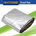 100CM x 100CM Car Turbo Engine Exhaust Muffler Heat Sound Shield Deadener Insulation Proof Mat Material Control Noise Deadening