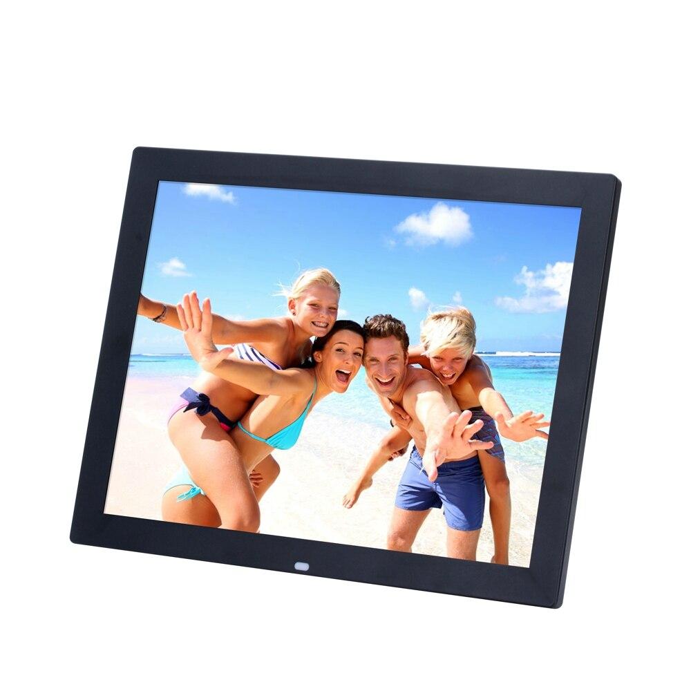 15 pouces TFT écran LED rétro-éclairage haute définition cadre Photo numérique Album électronique Photo/musique/vidéo Porta Retrato numérique