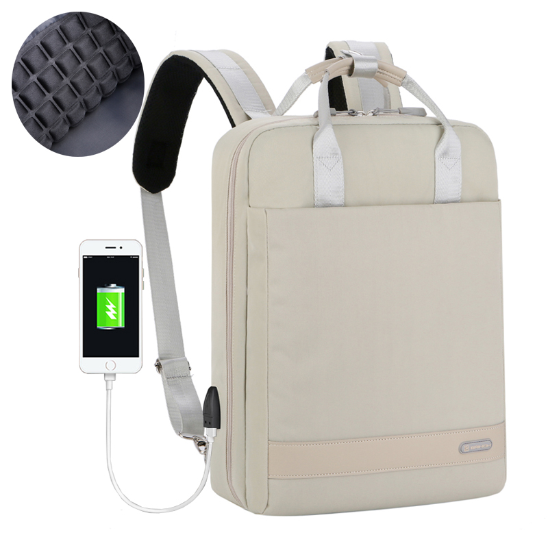 laptop backpack for 15 15.6 inch macbook air pro laptop bag with USB external charge notebook backpack for woman gril