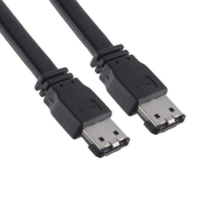 Black 1M 3FT eSATA to eSATA 7-Pin Shielded External Cable Cord #54521