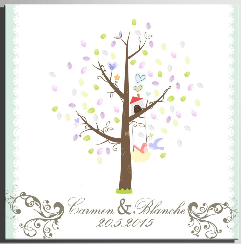 Diy Wedding Signature Book Personalized Fingerprint Tree Guest New In Party Decorations From Home