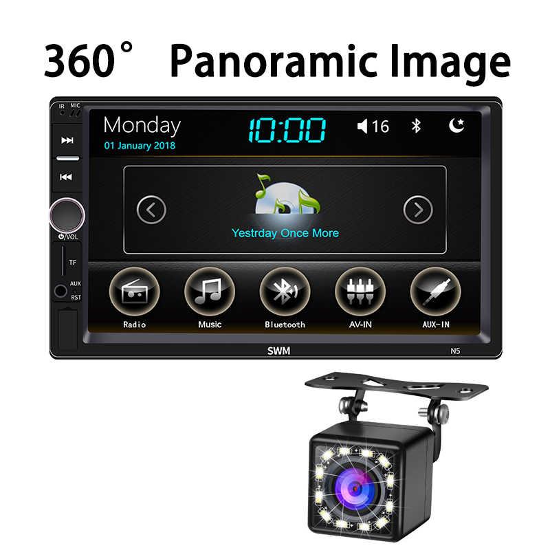 360 パノラマ画像 Carplay でカーラジオ 2 Din Autoradio Bluetooth ミラーリンク 2din カーステレオオーディオラジオプレーヤー USB FM AUX