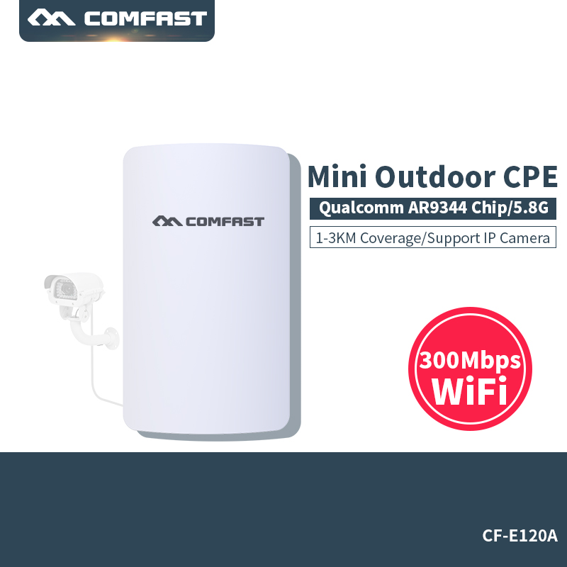 цена 5G CPE Router 3KM Wifi Bridge wireless Outdoor Wifi Repeater Wifi Extender Access Point Router Support openwrt comfast CF-E120A