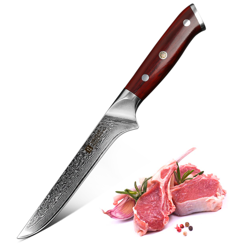 XINZUO 6 inch Eviscerate Knife Japan style Damascus Steel Kitchen Knife Rosewood Handle High Quality Boning