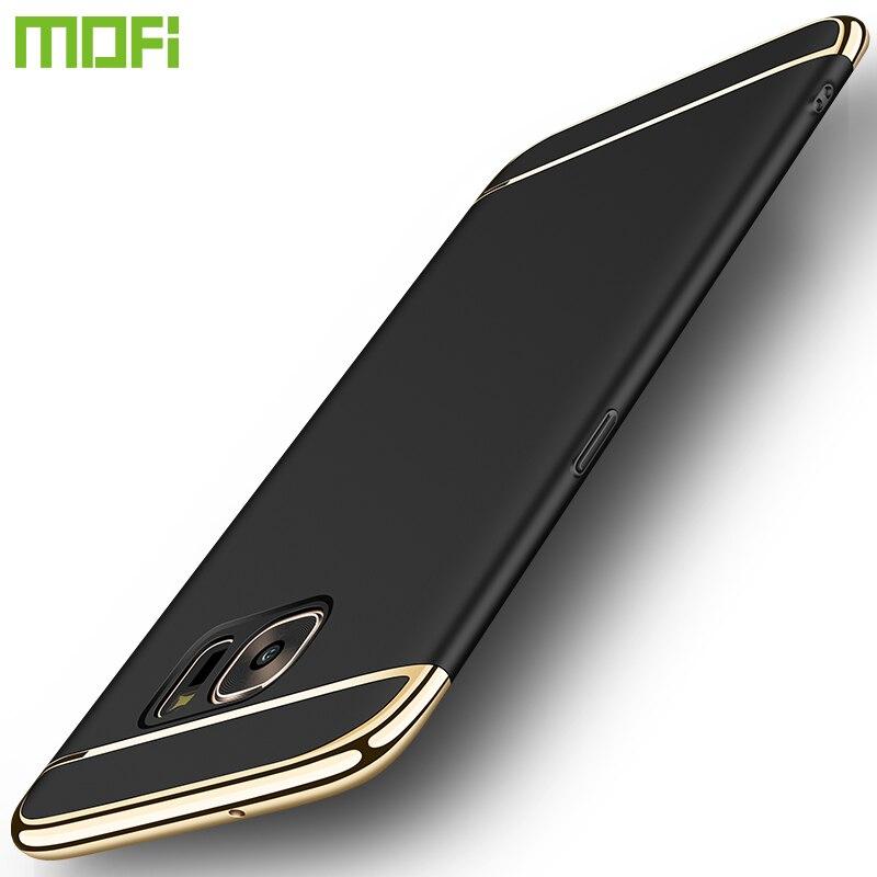 Для Samsung Galaxy S7/S7 Edge Дело MOFI стильный ультра-тонкий жесткий корпус с 3 Съемная Запчасти для galaxy S7/S7 Edge 5.5 дюймов