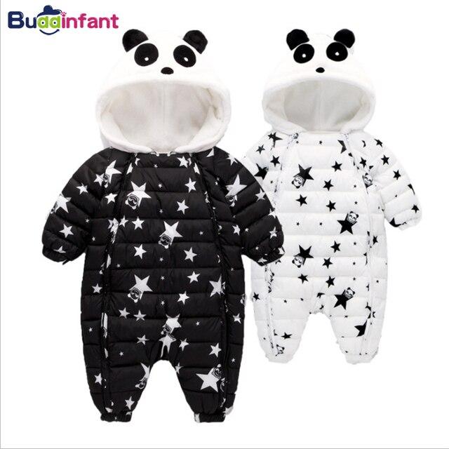 07314b7109 Unten Baumwolle Parkas Baby Winter Snowwear Kinder Jungen Kleidung Baby  Mädchen Warme Mantel Stern Panda Infant