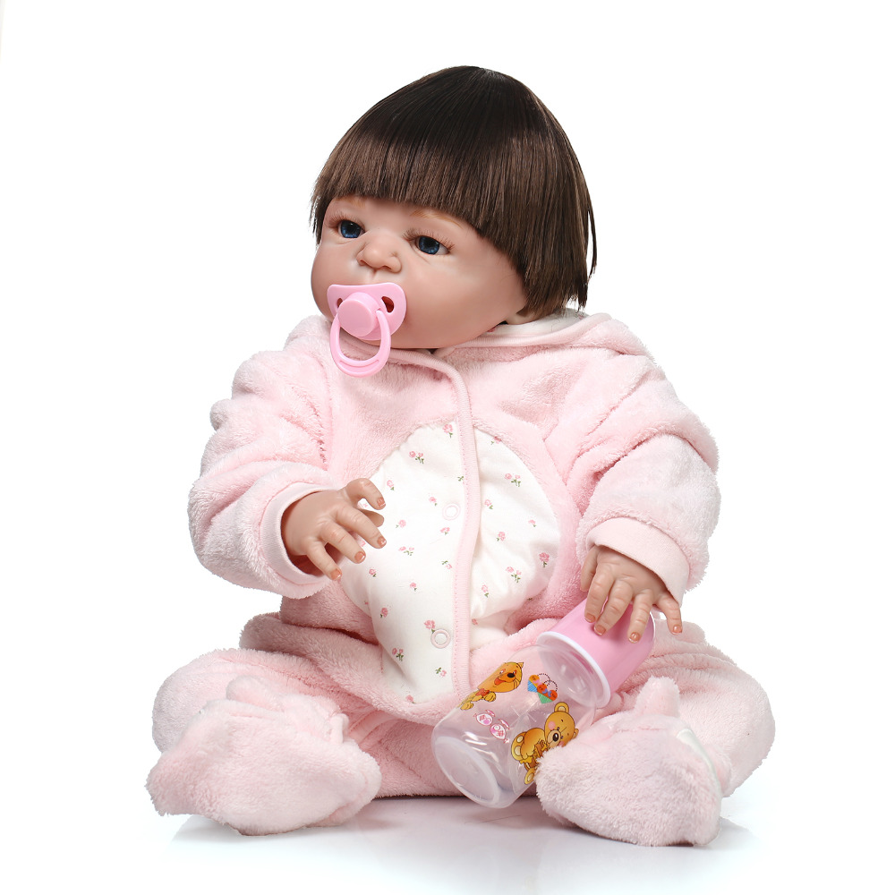 Full body silicone reborn baby doll toys lifelike new born babies kids child brithday gift girls brinquedos NPK doll collection christmas gifts in europe and america early education full body silicone doll reborn babies brinquedo lifelike rb16 11h10