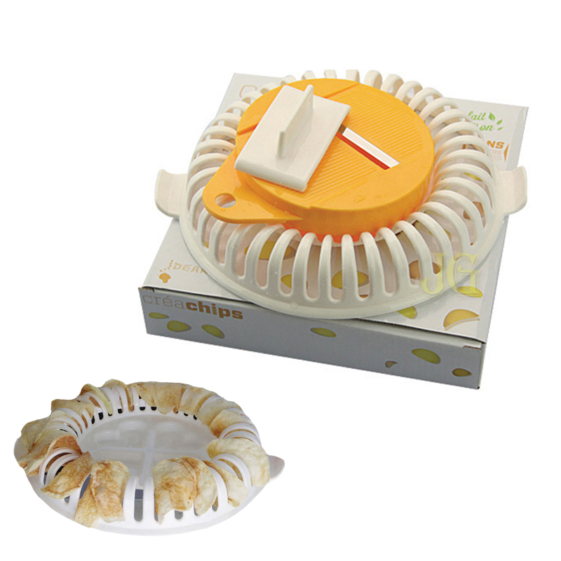 A Lot Potato Chips Production Tools DIY Low Calories Microwave Oven Fat Free Potato Chips Maker