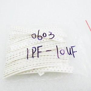 Image 2 - 0603 SMD Condensatore Kit Assortiti, 36 valori * 20pcs = 720pcs 1pF ~ 10uF 1608 Campioni Kit Elettronico Kit Fai Da Te Nuovo