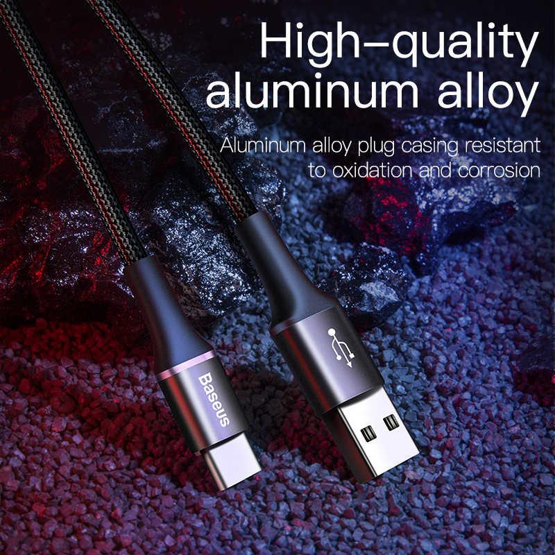 Baseus Usb Type C Kabel Voor Samsung S20 S10 Plus Xiaomi Snelle Opladen Wire Cord USB-C Oplader Mobiele Telefoon Usbc type-C Kabel 3M