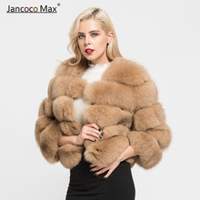 Real Fox Fur Coat Fashion Style Women Natural Outerwear Winter Thick Warm Fluffy Jacket S1796