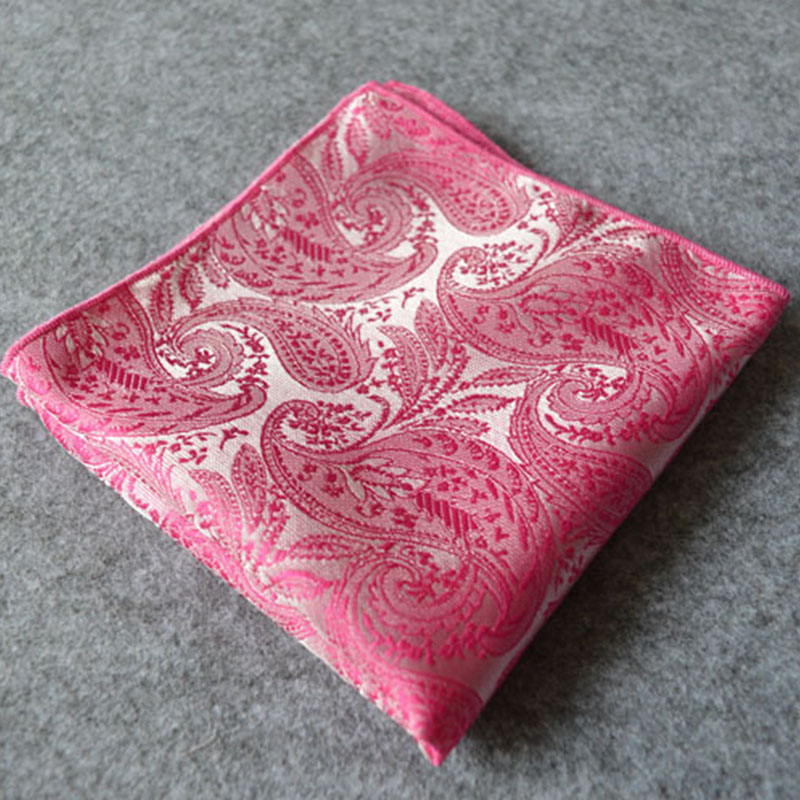 Chest Towel Pocket Square Towel Paisley Men Handkerchief Business Suit Pocket Hanky Woven Floral Printing Hanky