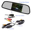 "4.3"" TFT LCD Color Screen 4.3 inch Car  Rearview Mirror Monitor and wireless 2.4G waterproof Car quality Rear View Camera"
