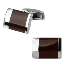 High quality fashion men's shirts Cufflinks Red Enamel Cufflinks brass material wholesale and retail