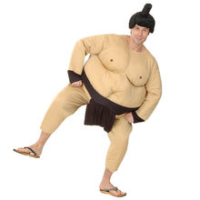 Sumo Costume Japan Wrestling Fat Suit Halloween Costume For Men Carnival Purim Party Fancy Dress Stage Clothing(China)
