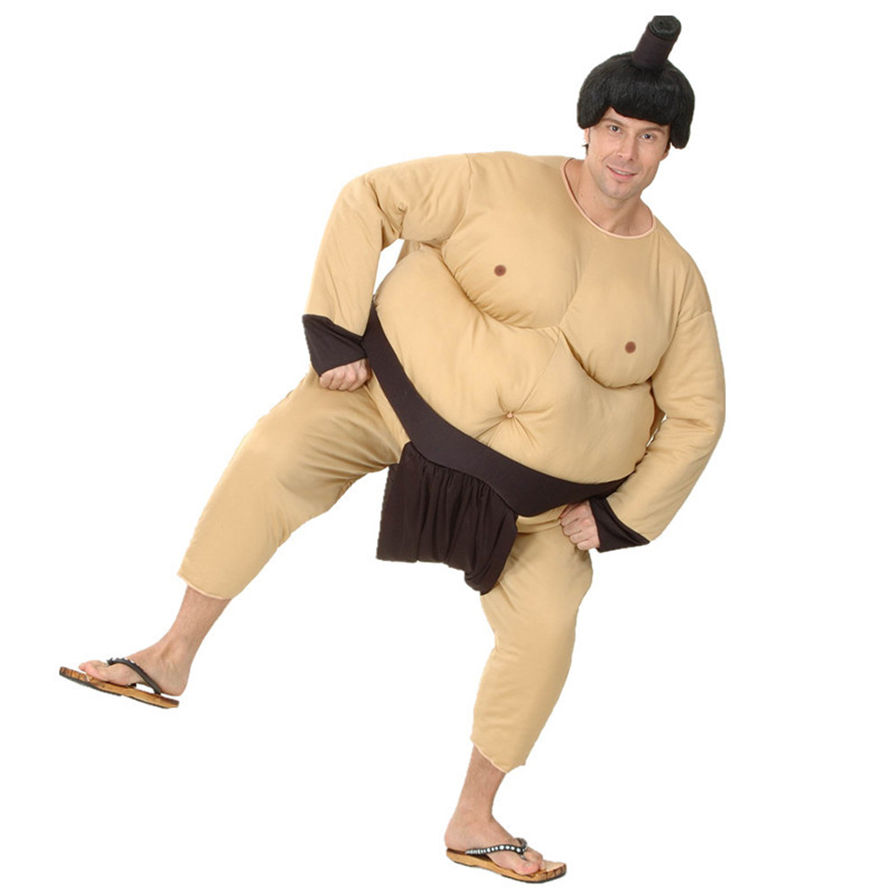 Sumo Costume Japan Wrestling Fat Suit Halloween Costume For Men Carnival Purim Party Fancy Dress Stage Clothing