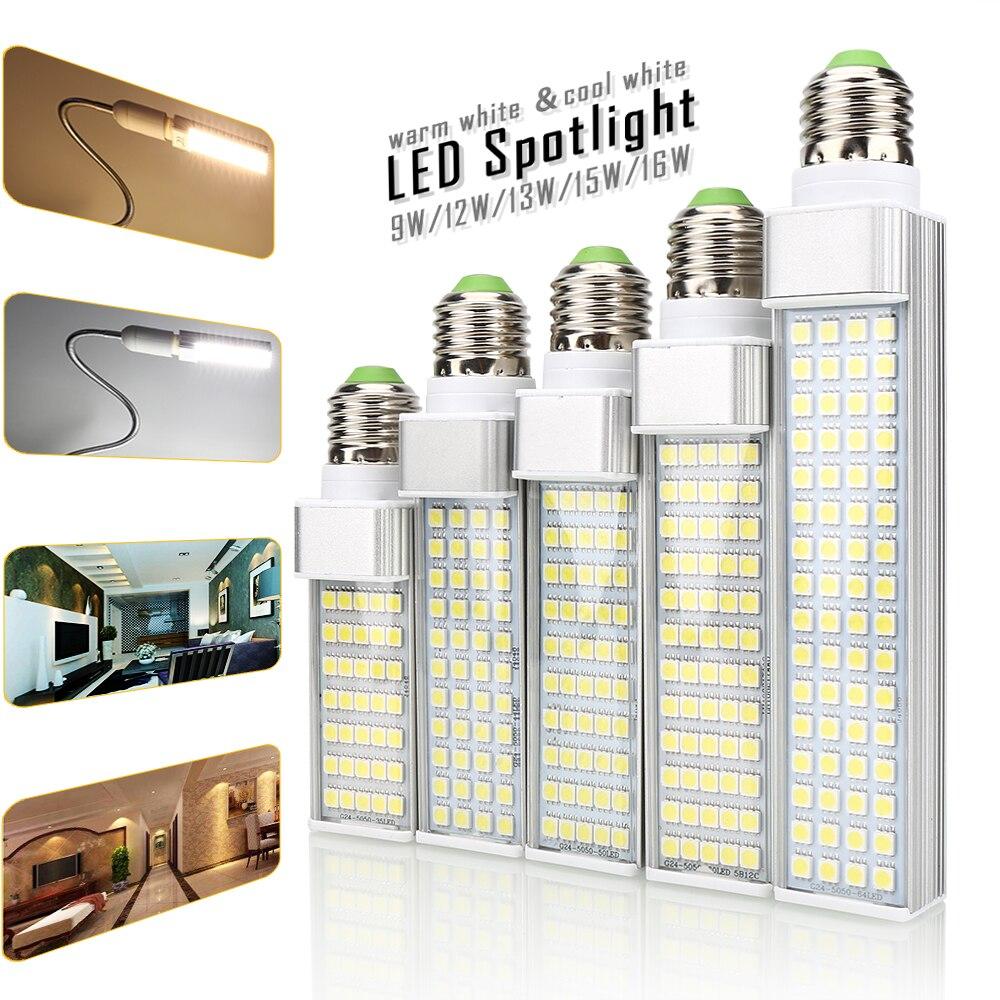 1 шт. Новый 5050 SMD чип E27 G23 <font><b>G24</b></font> Светодиодные лампы 35 44 50 60 64leds мозоли AC85-265V лампада для дома Spotlight Освещение