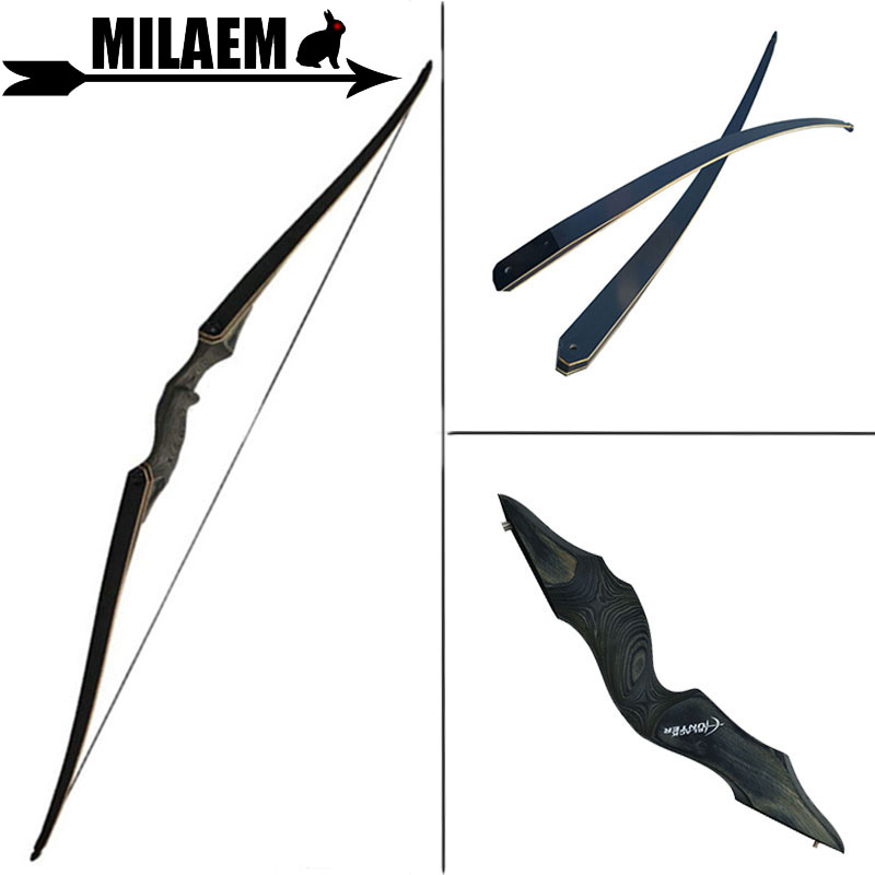 1pc 30-60lbs 60inch Archery Recurve Bow Longbow Takedown Bow Laminate Bow Limbs Left/Right Hand Outdoor Shooting Accessories