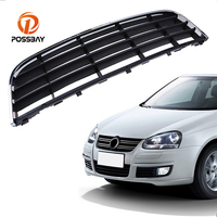 POSSBAY Perfect Match Front Center Bumper Lower Grille Grills Vent With Chrome Surround Trim for VW GOLF MK5 GTI 2004/2005 2009
