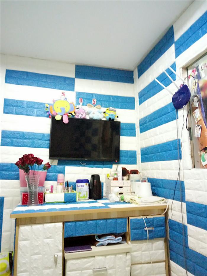 PCV 3D salon mur ceglany wzór tapety stickie dormitorium sypialnia retro wzór tapety adhesive392-F cegły 32