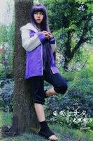 Free Shipping Naruto Hinata Hyuga Ninja Uniform Anime Cosplay Costume