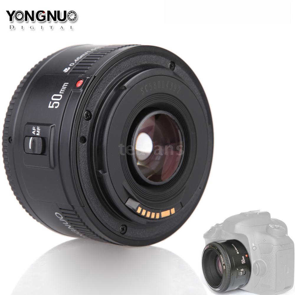 YONGNUO YN50mm f1.8 YN EF 50mm f/1,8 AF lente YN50 apertura lente de enfoque automático con filtro ND para Canon EOS 60D 70D 5D2 5D3 600D Cámara