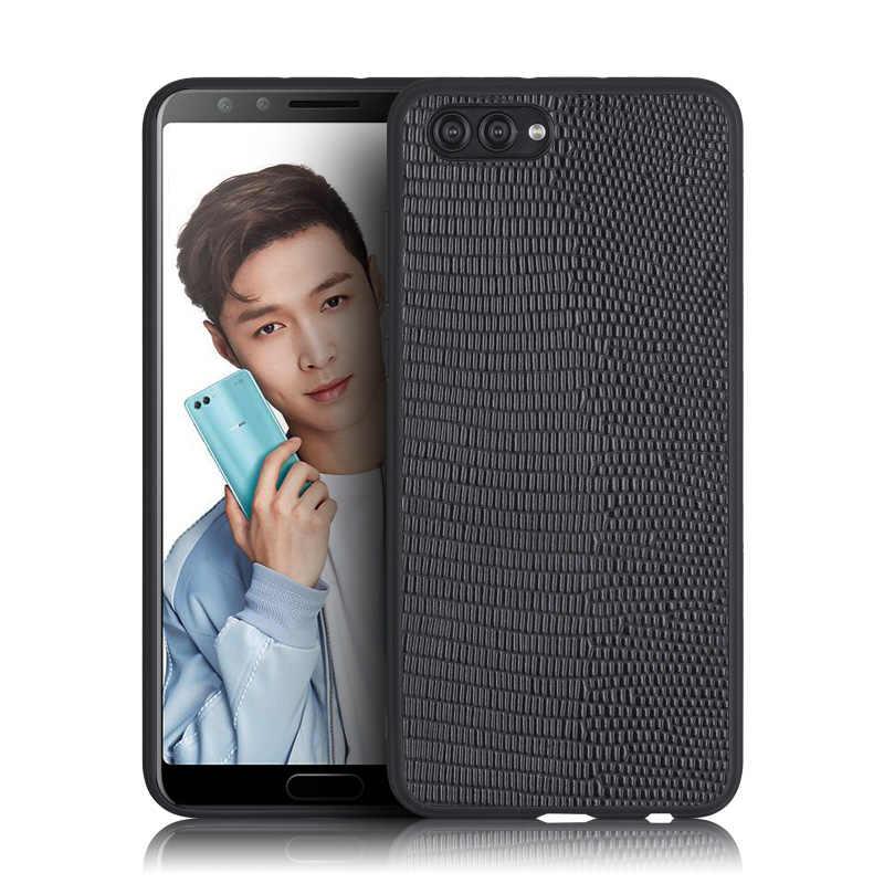 Натуральная кожа чехол для телефона для huawei Honor 10 Nova 3 P10 плюс P20 Lite Коврики 9 10 Pro задняя крышка кожа Ящерицы текстура soft shell