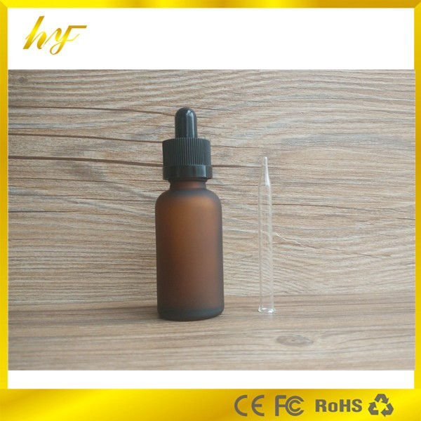 US $225 0 |China supplier e liquid glass bottle 30ml frosted amber glass  dropper bottle childproof cap 1oz e liquid glass dropper bottle-in  Refillable