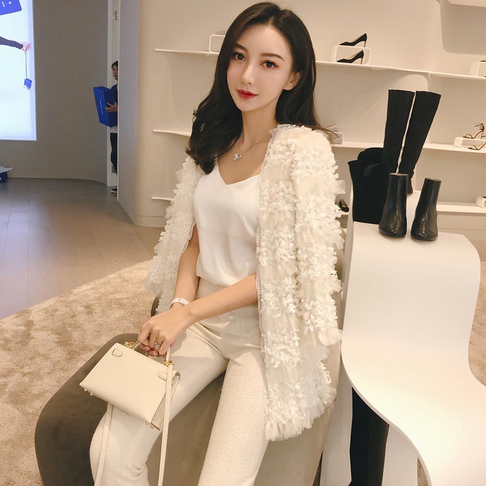 Mode Manteau Luxe Fleur Gland Gamme Marque Cardigan Nouveau 2018 Élégant De Maille Automne Kenvy Femmes Haut wEfnZq