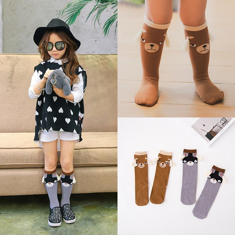 2016 Autumn/Winter 1-10y Baby Boy Girl Knee high Socks New design Toddle Cotton Cute Baby bear Socks Children leg warmer c871