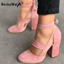 Women Pumps Plus Size 35-43 Lady High Heels Sandals Chaussur