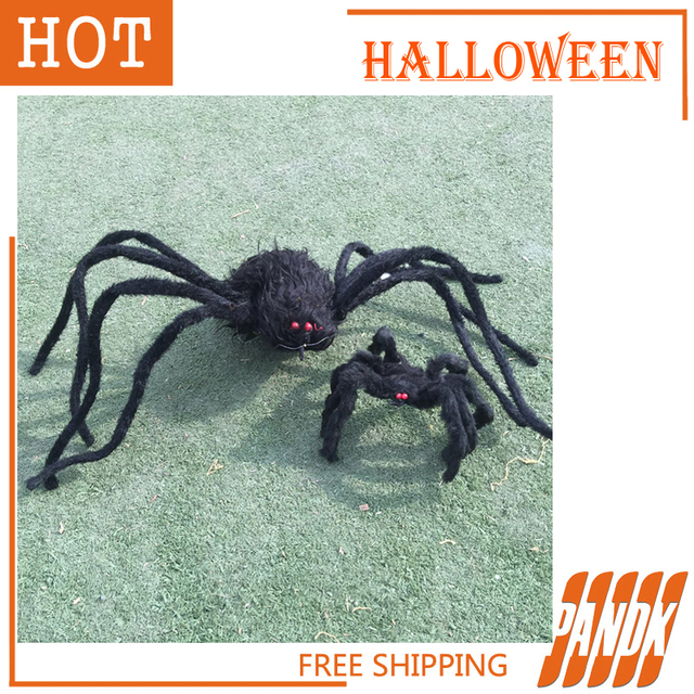 2pcs halloween spider decorations halloween props haunted house ideas halloween spider party yard free shipping - Spider Decorations