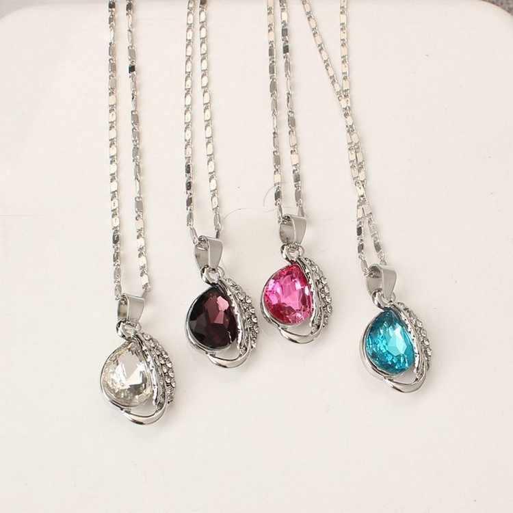 האוסטרי קריסטל תכשיטי סטים לנשים אופנה תכשיטים & Jewerly זהב צבע כלה חתונה תכשיטי סטים