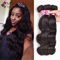 Mslynn Peruano Onda Do Corpo Do Cabelo Virgem 3 Feixes de cabelo Humano Macio 7A cabelo Virgem Não Processado Onda Do Corpo Peruano Feixes de Cabelo Não emaranhado