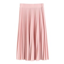 2017 Spring Summer Style All-match Chiffon Skirt Waist Fold Slim Sweat Skirt Pleated Skirt Department Long Skirts P2