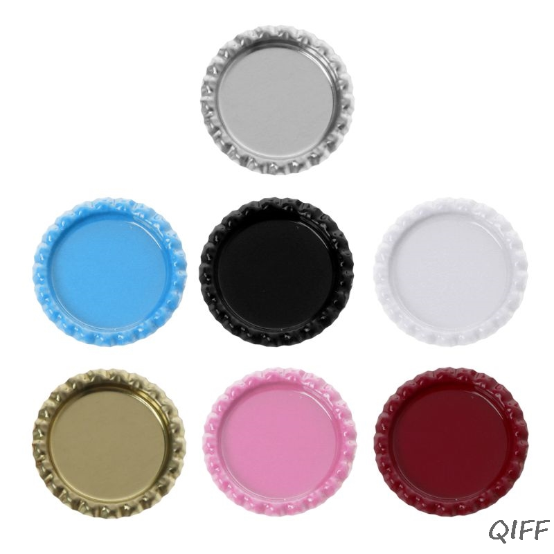 """10 CLEAR 1/"""" CIRCLE BOTTLE CAP 3D EPOXY DOMES STICKERS IMAGES HAIR BOWS KEYRING"""