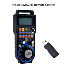 купить Engraving Machine Tools & accessories New 6 Axis Wireless CNC Handwheel Mach3 MPG Pendant Manual Pulse Generator MPG hand wheel онлайн