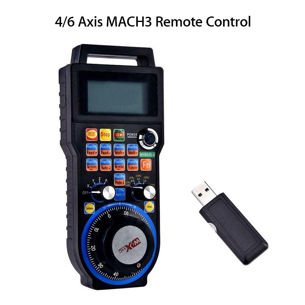 Gravure machines-outils et accessoires nouveau 4 axes sans fil CNC volant Mach3 MPG pendentif manuel générateur d'impulsions MPG roue à main