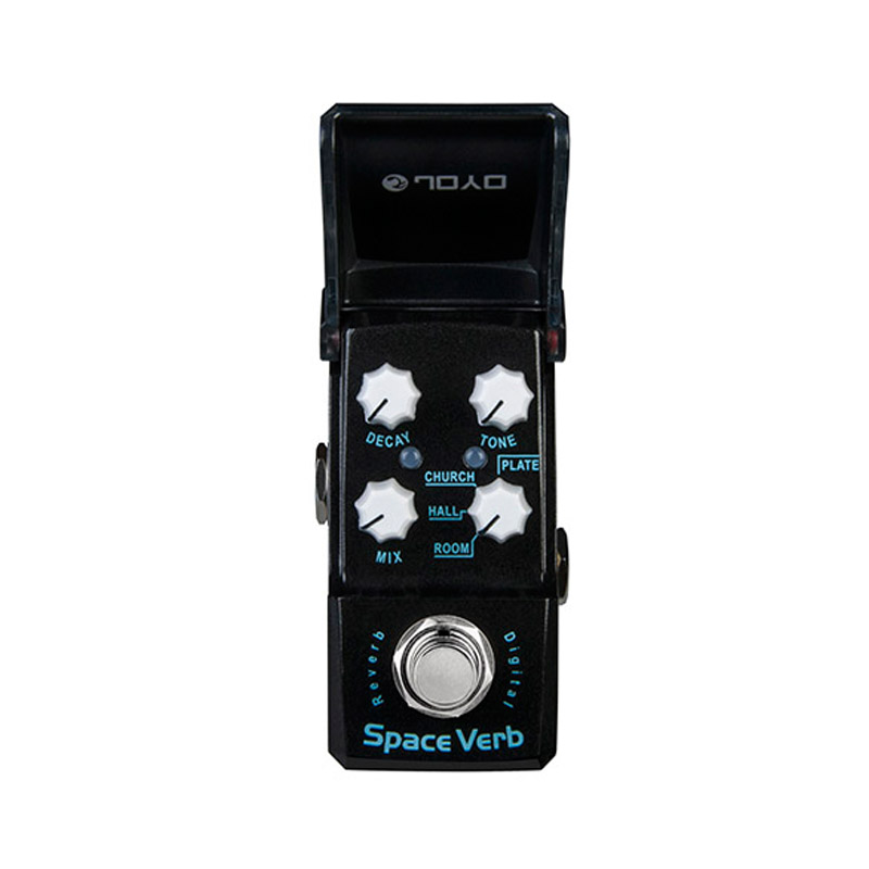 Joyo Ironman JF-317 Space Verb Digital Reverb Guitar Effect Pedal True Bypass joyo jf 317 space verb digital reverb mini electric guitar effect pedal with knob guard true bypass