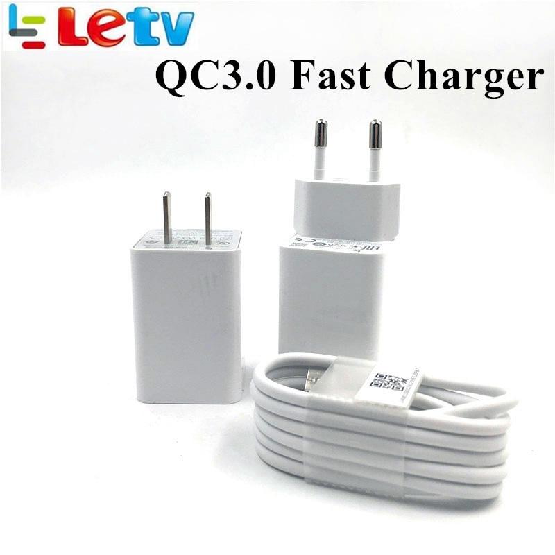 Leeco le s3 x626 Carregador rápido rápido Letv Letv leeco le Pro 3/max 2/X522/le2 UE/ NÓS QC 3.0 Tipo C cabo de carga usb adaptador de parede