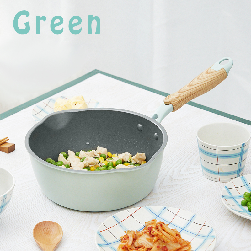 Green Non-Stick Induction Gas Frying Pan 1