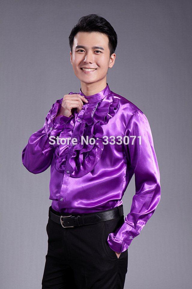 Aliexpress.com : Buy 2017 New Arrival Men Shirt Purple Long Sleeve ...
