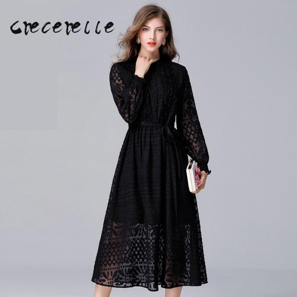 Kadın Giyim'ten Elbiseler'de Kadın Giyim Yeni Avrupa Ve Amerikan Mizaç bel kemeri Belle Elbise Artı Boyutu Feminino Ofis Elbise L 5XL 14048'da  Grup 1