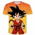 Das Mulheres dos homens de Verão Casual Camiseta Hipster t 3D camisa Bonito Kid Goku camiseta Dragon Ball Tees Masculino Meninos Anime tshirts topos