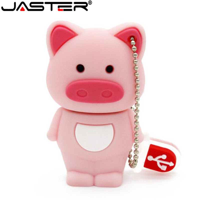 JASTER 100% Real Capacity Pig Usb Creativo USB 2.0 Usb Flash Drive Thumb Memory Stick Pendrive 8GB 16GB 32GB U Disk Gifts