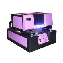 No tax, A4 UV Printer 210*400mm Automatic Phone Case UV Led Flatbed Printer for Textile,Plastic,Leather,Glass,Metal,Acrylic,etc цена и фото