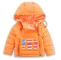 2016 Hooded Baby Boys Cartoon Jackets Sports Coats Chilldren Outerwears Kids Winter Warm Down Parkas Windbreak Parkas