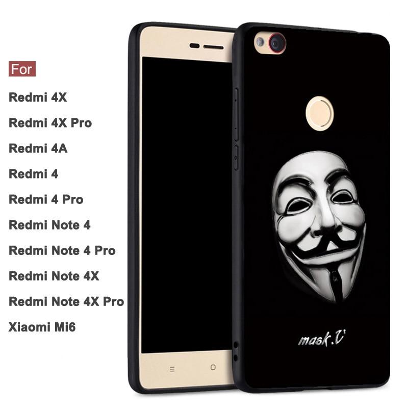 GodGift Xiaomi Redmi 4X Case Cover 3D Relief Xiaomi Redmi ...
