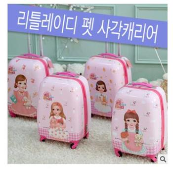 Kid suitcase Travel Luggage suitcase for girl trolley luggage Rolling Suitcase for girls Wheeled Suitcase trolley bag for girls фото