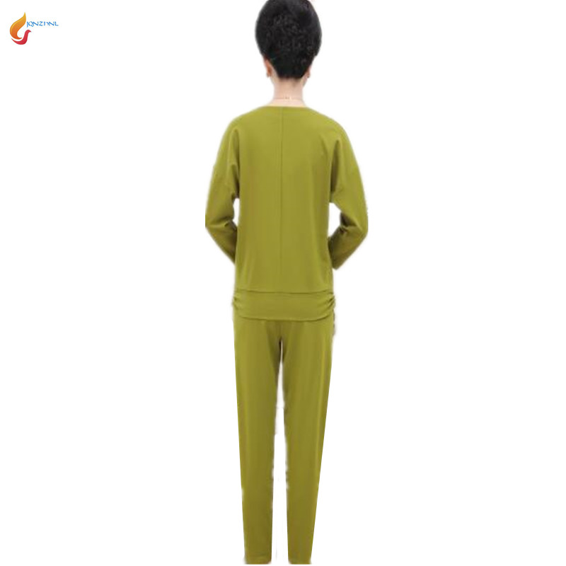 2018 New women spring Middle age large size casual sportswear suit fashion Long sleeves+trousers Twinset Costumes G184 JQNZHNL 5